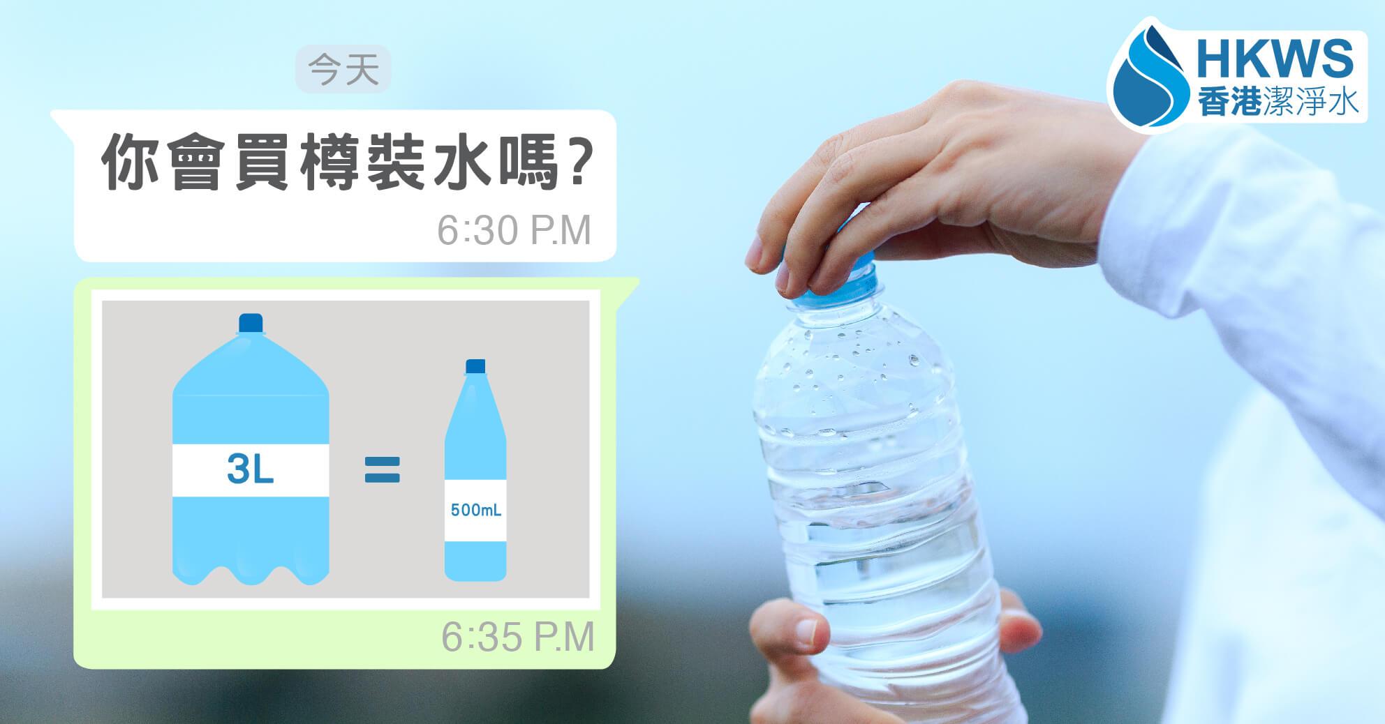 以後買前要三思!三升水才能生產一瓶樽裝水